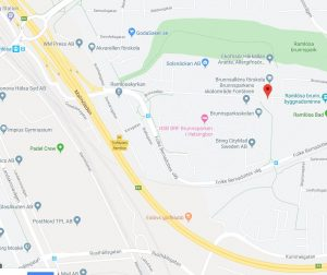 Solsnäckan AB:s kontaktuppgift adress som bild Google Maps